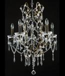 Candelabru Diamant Crystal Castle,5 becuri dulie E14, 230V,D.57cm, H.73 cm,Bronz
