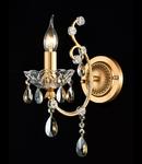 Aplica Diamant Crystal Sevilla,1 x E14, 230V, D.37cm,H.39 cm,Auriu