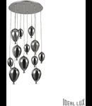 Corp de iluminat din sticla suflata si prelucrata manual sub forma de balon cromat 12x40W