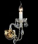 Aplica Diamant Crystal Beatrix,1 x E14, 230V, D.21cm,H.18 cm,Auriu