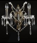 Aplica Diamant Crystal Castle,2 x E14, 230V, D.14cm,H.35 cm,Bronz