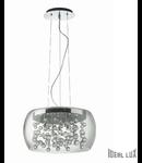 Corp de iluminat cu elemente de sticla decorativa 5x40W
