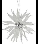 Corp de iluminat suspendat lucrat manual cu sticla suflata si elemente decorative transparente 800