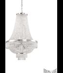 Candelabru cu elemente decorative sub forma de perle din cristal 12x40W