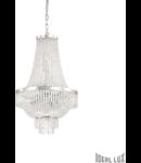 Candelabru cu elemente decorative sub forma de perle din cristal 9x40W