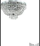 Corp de iluminat cu margele octogonale si cristale in forma de turturi 5x40W Crom