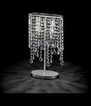 Corp de iluminat cu pandantive din cristale de diverse forme 2x40W