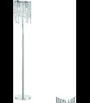 Lampa de podea cu pandantive din cristale de diverse forme 2x40W
