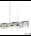 Corp de iluminat cu pandantive din cristale multicolore 7x40W
