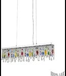 Corp de iluminat cu pandantive din cristale multicolore 5x40W
