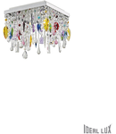 Corp de iluminat cu pandantive din cristale multicolore 4x40W