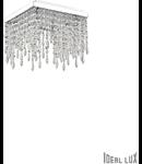 Corp de iluminat cu pandantive din cristale incolore 4x40W
