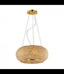 Corp de iluminat cu perle din cristal 6x40W Auriu