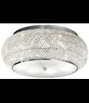 Plafoniera cu perle din cristal 10x40W Crom