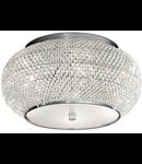 Plafoniera cu perle din cristal 6x40W Crom