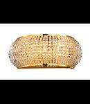 Aplica cu perle din cristal 3x40W Auriu