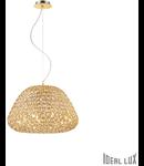 Corp de iluminat cu cristale incorporate in interior 10x40W Auriu