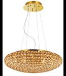Corp de iluminat cu cristale incorporate in interior 7x40W Auriu