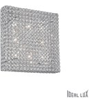 Plafoniera cu cristale taiate inserate in inele metalice 8x40W