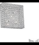 Plafoniera cu cristale taiate inserate in inele metalice 6x40W
