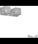 Aplica dubla cu cristale taiate inserate in inele metalice 2x40W