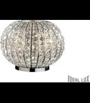 Veioza Calypso cu abajur sferic si decoratiuni de cristal 3x60W