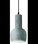Pendul Oil 3, 1 bec, dulie E27, D:140mm, H:500/1400mm, Gri - Ciment