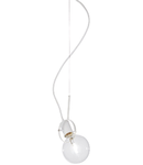 Lustra Radio, 1 bec, dulie E27, D:120mm, H:450/1450mm, Alb