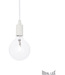 Pendul Edison, 1 bec, dulie E27, D:110mm, H:450/1300mm, Alb
