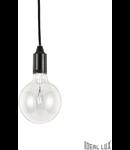 Pendul Edison, 1 bec, dulie E27, D:110mm, H:450/1300mm, Negru
