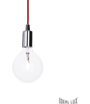 Pendul Edison, 1 bec, dulie E27, D:110mm, H:450/1300mm, Crom