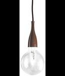 Pendul Minimal, 1 bec, dulie E27, D:120mm, H:350/2000mm, Caffè