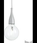Pendul Minimal, 1 bec, dulie E27, D:120mm, H:350/2000mm, Gri
