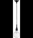 Pendul Minimal, 1 bec, dulie E27, D:120mm, H:350/2000mm, Negru