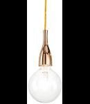 Pendul Minimal, 1 bec, dulie E27, D:120mm, H:350/2000mm, Auriu