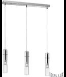 Lustra BAR, 3 becuri, dulie G9, L:550mm, H:350/1150mm, Crom