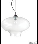 Pendul Bistrò Round, 1 bec, dulie E27, D:400mm, H:700/1250mm, Negru