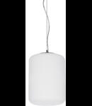 Pendul Ken Small, 1 bec, dulie E27, D:195mm, H:500/1250mm, Alb