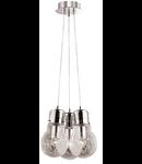 Lustra Luce Max, 3 becuri, dulie E27, D:320mm, H:300/1200mm, Crom