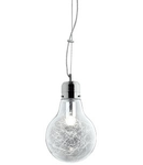 Pendul Luce Max Small, 1 bec, dulie E27, D:220mm, H:390/1200mm, Crom