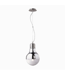 Pendul Luce Cromo Small, 1 bec, dulie E27, D:220mm, H:390/1200mm, Crom
