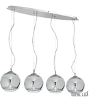 Lustra Discovery Big, 4 becuri, dulie E27, L:940mm, H:300/1300mm, Crom
