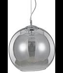 Pendul Nemo D40, 1 bec, dulie E27, D:400mm, H:550/1350mm, Crom