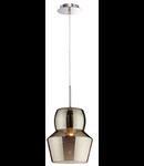 Pendul Zeno Big Fumè, 1 bec, dulie E27, D:220mm, H:400/1400mm, Fumuriu