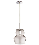 Pendul Zeno Big Trans, 1 bec, dulie E27, D:220mm, H:400/1400mm, Transparent