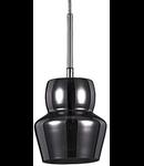 Pendul Zeno Small Fumè, 1 bec, dulie E14, D:160mm, H:300/1400mm, Fumuriu