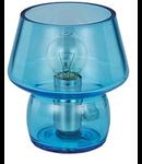 Veioza Zeno Small Azzurro, 1 bec, dulie E14, D:120mm, H:140mm, Azzurro