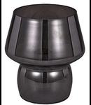 Veioza Zeno Small Fumè 1 bec, dulie E14, D:120mm, H:140mm, Fumuriu