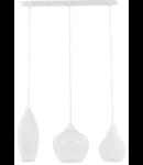 Lustra Soft, 3 becuri, dulie G9, L:600mm, H:400/1130mm, Alb