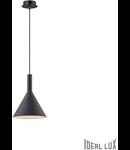 Pendul Cocktail, 1 bec, dulie E14, D:200mm, H:320/1250mm, Negru